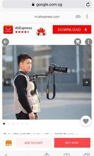>50% off retail: Hands free shoulder stabilizer pad for video camera