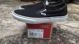 MURAHH Vans slipon Black and white original