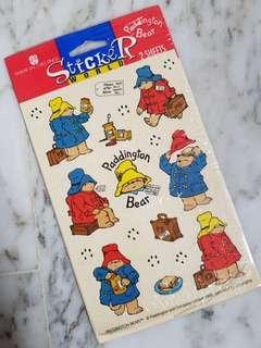 Vintage Paddington Bear Stickers