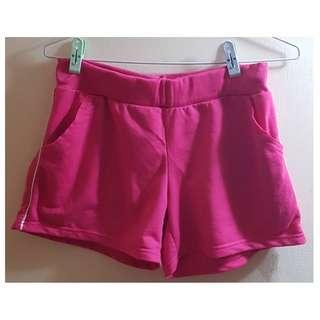 二手褲 桃紅色 短褲 運動褲 休閒褲