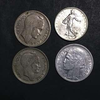 Europe France small coins