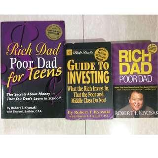 Book: Rich Dad, Poor Dad Series by Robert Kyosaki