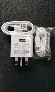 Samsung Charger, earpeice and usb cable
