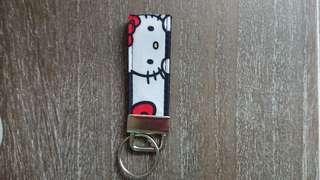Brand New Dot & Strip Hello Kitty Key Chain