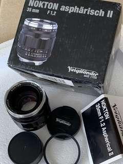 Voigtlander 35mm f1.2 Nokton ASPH II