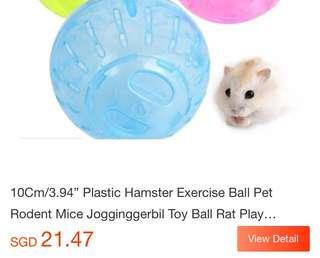 Running plastic ball rodents hamster