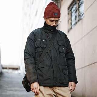🚚 冬季加厚工裝外套機能情侶寬鬆麵包服外套