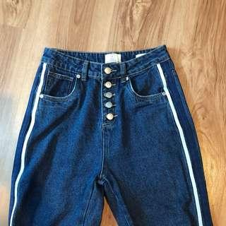 High Waisted Button Up 90's Jeans