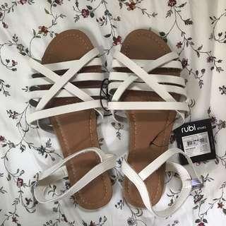 White Rubi Sandals