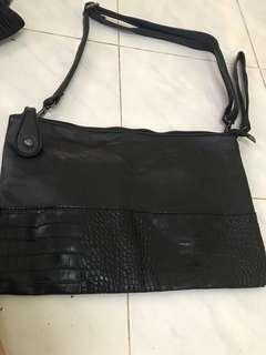 sling bag crocodile