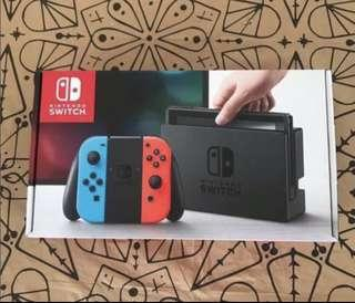 Local Set Nintendo Switch Console Neon