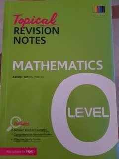 'O' Level Topical Revision Notes Mathematics