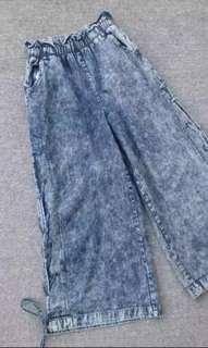 側X透視性感扎染牛仔褲👖〈橡根腰自由碼〉