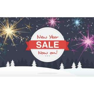 NEW YEAR SALES NOW ON!!
