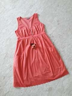 Orange Baby Doll Dress