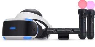 PS4 VR 全套連盒 + hkd 399 送PS Move 一對, PS Camera, PS VR 架