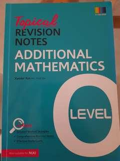 O Level Topical Revision Notes Additional Mathematics
