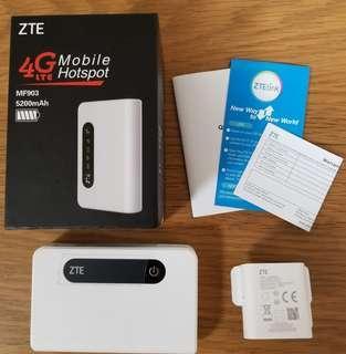 85%新 ZTE 中興 4G旅行router 有 lan port