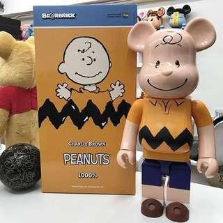 Sealed in Box Brand new Medicom 1000% Bearbrick Charlie Brown snoopy peanuts