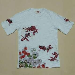 Embroidery Sukajan T-Shirt by Japanese Clasic Script