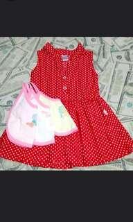 Repriced Bundle So-En Baby Dress with FREE BIB!