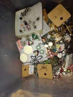 Assorted necklaces, bracelets, earrings and headbands
