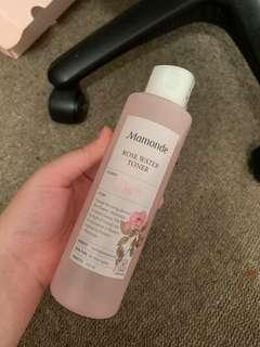 Korean rose water toner