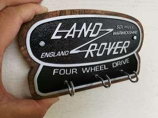 LAND Rover solihull 4wd metal and wood Keychain hanger