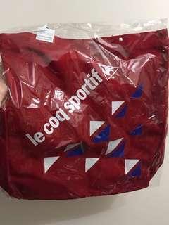 全新 le coq sportif 公雞🐓 紅色 厚實 布質袋 環保袋 運動袋