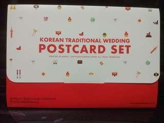 全新 韓國 結婚主題 postcard