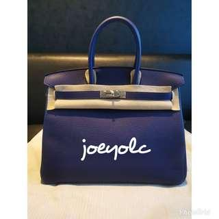 Brand New Hermes Birkin 35 Bag Blue Encre
