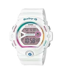 Casio G-shock BABY-G。雪白 女錶 9.5新 少女時代