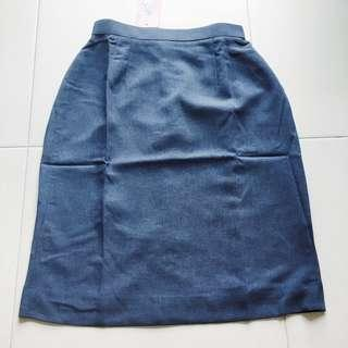 🚚 Instock! - BN Blue Chambray Pencil Skirt