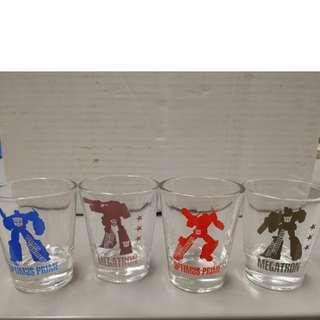 全新transformer set of 4 tumbler glass ( 4套玻璃杯)