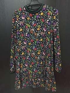 Zara floral tunic/short dress