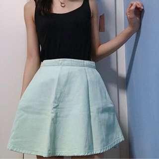 American Apparel Emerald Skater Skirt
