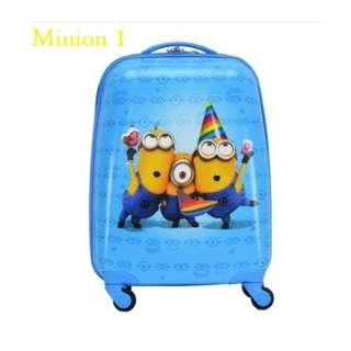 "🚚 4 Designs! 18"" Minion Despicable Me Disney Kids Luggage Suitcase Cartoon Design Gift Idea Speed Limit"