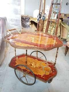 Vintage Italian drink trolley
