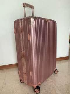 """29"""" Luggage 360° 8 Wheels Spinner Suitcase Rose Gold Pink"""