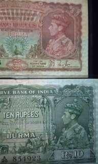 Burma rupees