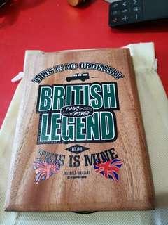 Land Rover British legend wood display plaque