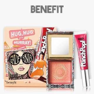 Benefit Hug, Hug Hurray!GALifornia陽光女孩蜜粉 唇彩及胭脂套裝