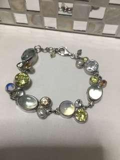 Genuine stones with 925 silver bracelet