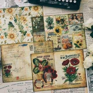 Journaling Card- Flowers