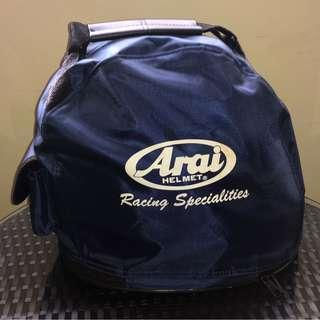 Arai Helmet With shoulder strap and Tank Bag