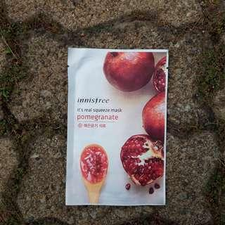 Innisfree squeeze mask Pomegranate