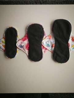 🚚 Charcoal bamboo cloth pads
