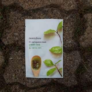 Innisfree squeeze mask Green Tea