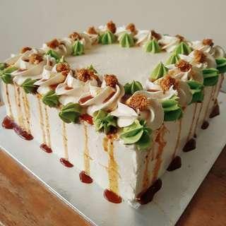 (8-inch) Halal Ondeh Drip Cake