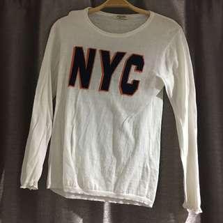 NYC White Long Sleeve Shirt